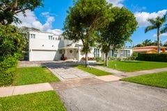 Coral Gables-huis Royalty-vrije Stock Afbeeldingen