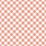 Coral Gingham Seamless Pattern Photo stock