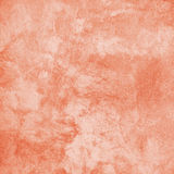 Coral Handmade Embossed Decorative Paper Background. Vintage Art Grunge Painted Stucco Wall Texture. Web Banner Square image  With Copy Space Royalty Free Stock Photography