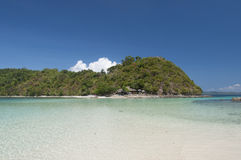 Coral island near Port Barton, Philippines Stock Image