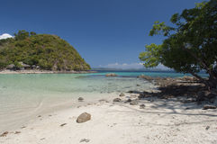 Coral island near Port Barton, Philippines Stock Images