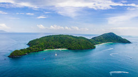Coral Island Phuket. Coral Island, known locally as Koh Hae, is a beautiful getaway destination located three kilometres southeast of Phuket. The island features Stock Image