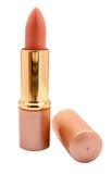 Coral lipstic fotografia de stock