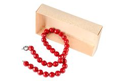 Coral necklace Royalty Free Stock Photo