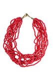 Coral necklace Royalty Free Stock Image