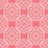 Coral  ornament. Coral colour curly floral ornament Stock Photography
