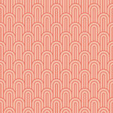 Coral pink overlapping arcs Stock Photography