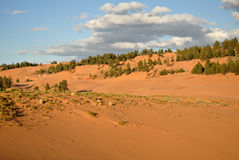 Coral Pink Sand Dunes. In southern Utah Stock Images