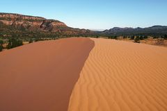 Coral Pink Sand Dunes State Park.  Stock Image