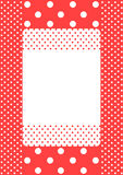 Coral polka dots frame card Stock Photography