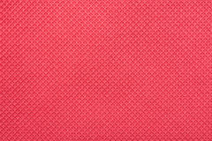 Coral Red Fine Cotton Textile Stock Image