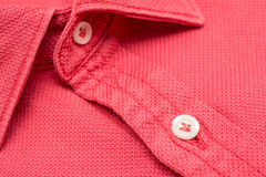 Coral Red Men Shirt Stock Photography