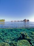 Coral reef. Infront of a Maldive island Stock Photo