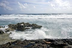 Coral Reef And The Angry Sea Royalty Free Stock Images