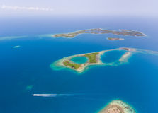 Coral Reef and Caye Aerial Royalty Free Stock Image