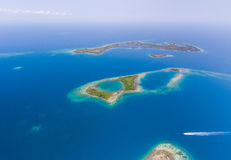Coral Reef and Caye Aerial Stock Photos
