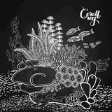 Coral reef design Stock Photo