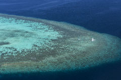 Coral Reef and detail of Atoll Royalty Free Stock Photo