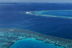Coral Reef and detail of Atoll Stock Photography