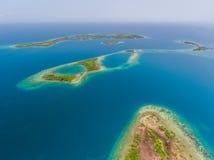 Coral Reef et antenne de Caye Images stock