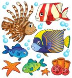 Coral reef fish theme collection 1 Stock Photo