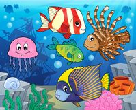 Coral reef fish theme image 2 Royalty Free Stock Photos