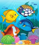 Coral reef fish theme image 4 Royalty Free Stock Photo