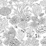 Coral Reef and Fishes Pattern Stock Photography