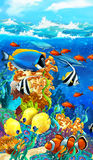 The coral reef - illustration for the children Royalty Free Stock Images
