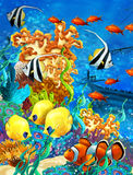 The coral reef - illustration for the children Stock Photo