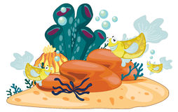 Coral reef. Illustration of coral reef object Royalty Free Stock Photography
