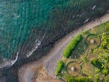 Coral reef, nadir royalty free stock photo