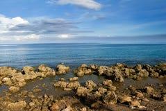 Coral reef rock coastline Stock Images