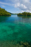 Coral reef and rock islands of Palau  Stock Images