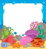 Coral reef theme frame 1 Stock Photos