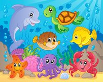 Coral reef theme image 5 royalty free illustration