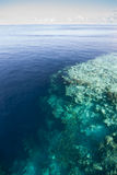 Calm Seas and Coral Reef Dropoff Royalty Free Stock Photography