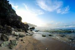 Coral Scenery medan soluppgång Arkivfoto