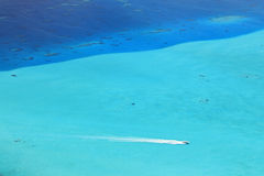 Coral Sea Viewed from Above Stock Image