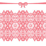 Coral seamless lace Stock Photography