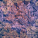 Coral Seamless Vector Pattern avec le récif tropical illustration stock