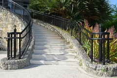 Coral Stone Stairway Stock Foto