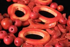 Coral Stones roja Imagen de archivo libre de regalías