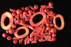 Coral Stones vermelha Fotografia de Stock