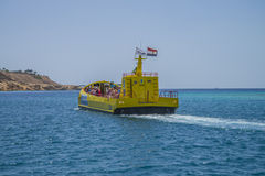 Coral submarine in sharm el sheikh Stock Images