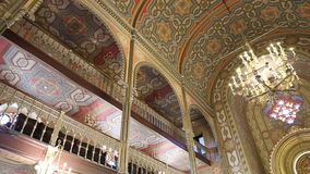 Coral Temple inside. Architecture - jewish community synagogue in Bucharest, Romania stock video footage