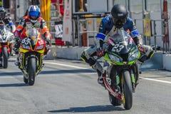 ³ Coral Transports de Competicià 24 heures de motocyclisme de Catalunya Photographie stock libre de droits