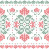 Coral and turquoise floral seamless pattern. Paisley elements. Ornament. Traditional, Ethnic, Turkish, Indian motifs. Great for fabric and textile, wallpaper Stock Image