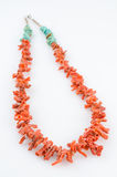 Coral and Turquoise Necklace. Stock Photo