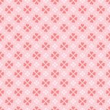 Coral vector heart shape flowers seamless pattern royalty free illustration